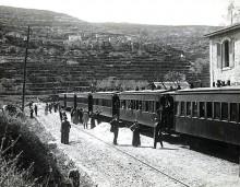 سكة القطار في قرية بتير قضاء القدس عام 1940