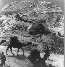 قوافل التجار على طريق القدس-اريحا (طريق الخان الاحمر) عام 1911