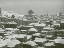 القدس، عاصفة ثلجية عام 1934