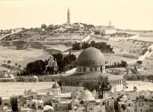 القدس، قبة الصخرة وجبل الزيتون عام 1941