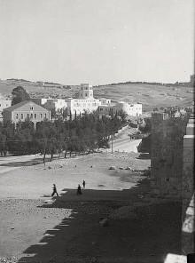 القدس، مدرسة الرشيدية ومتحف فلسطين عام 1939