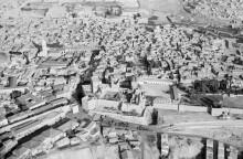 القدس، صورة جوية للبلدة القديمة في ثلاثينات القرن الماضي