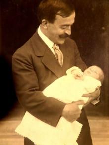 القدس، خليل السكاكيني وابنه سري عام 1914