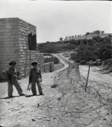 بيت صفافا عام 1967,اول شريط حدودي يقسم البلد الى قسمين اردني واسرائيلي