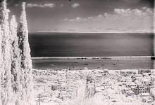 حيفا، صوره نادره للثلوج عام 1920