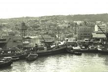 ميناء حيفا عام 1944