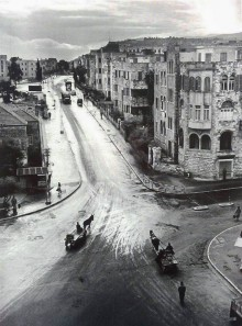 حيفا، تقاطع شارع الخوري مع شارع حسن شكري عام 1950