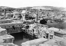 القدس، البلدة القديمة- بركة باب الخليل عام 1862