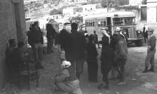 طبريا، محطة حافلات شركة الناصرة المحدوده عام 1946